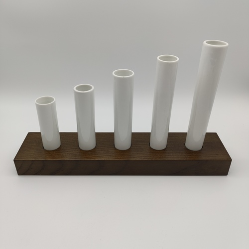 Green White Five Tube Vase Set-2nd ed.
