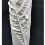 White Biscuit Pipa Leaf Vases - Large