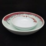 Under-Glaze Red Footless Bowl - (180mm)
