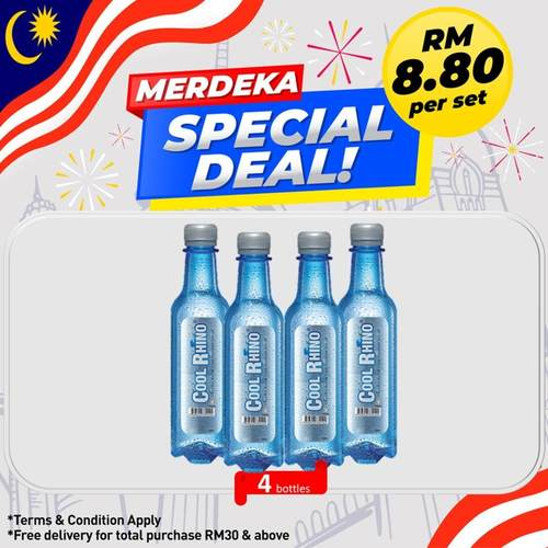 8.8 Promotion COOL RHINO COOLING WATER 350ML x 4