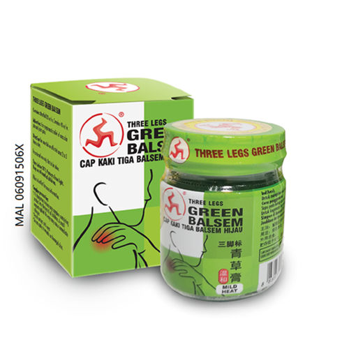 THREE LEGS GREEN BALSEM 36G
