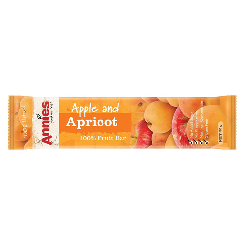 Annies Apple and Apricot Fruit Bar 50g