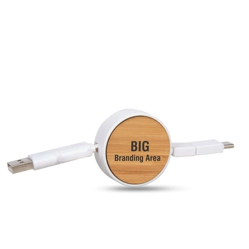 Bamboo Yo yo charging cable