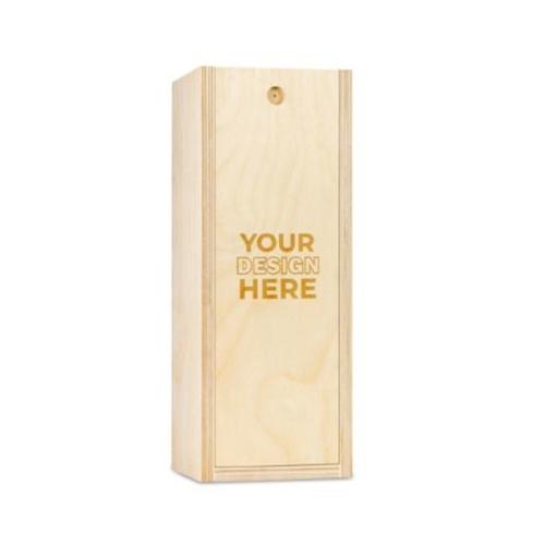 Custom Engraved Single Bottle Wood Wine Box