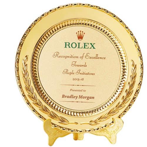 Round Plate Award