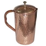 Pure Copper Jug & 2 Glass Set