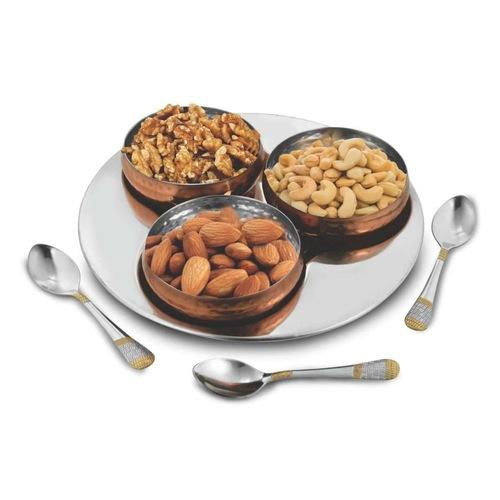 Copper finish Snack set