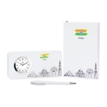 Pen, Notebook & Tableclock Set