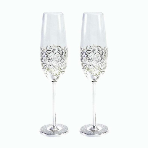 Netted Champagne Glass