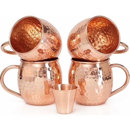 Pure Copper Moscow 4 Mule Mug & Glass
