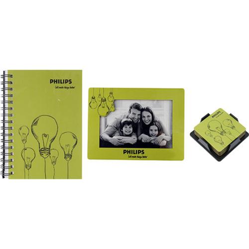 Spiral Notebook, Photoframe & Coasters