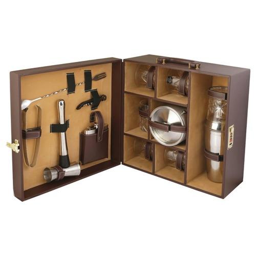 Mini Leather Complete Bar Set