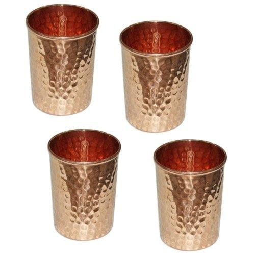 4 Copper Glass Set