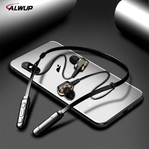 Bluetooth Earphone Wireless Headphones Four Unit Drive Double Dynamic Hybrid Deep Bass Earphone for Phone with mic 5.0