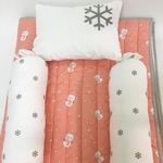 """Snowy Snowman"" Organic Mini Gift Set - With Quilted Blanket"