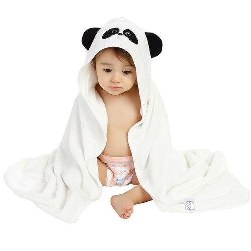 Organic Bamboo Hooded Towel - Panda