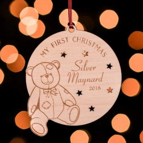 Personalised My First Christmas - Bear