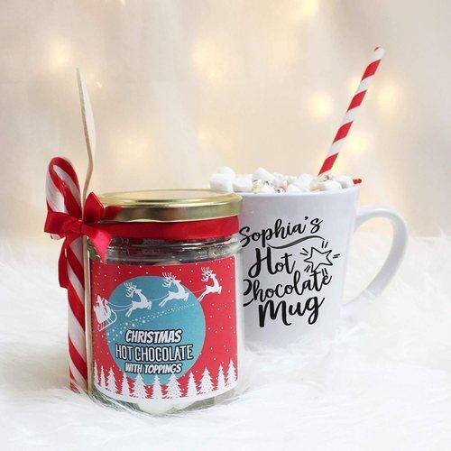 Personalised Christmas Hot Chocolate Set