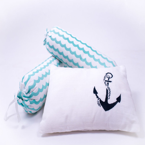 """Sailing Boats"" Organic Organic Mini Gift Set - With Quilted Blanket"