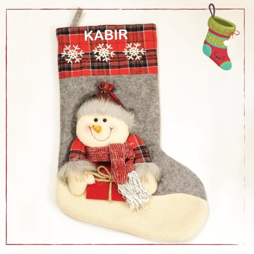 Personalised Stockings - Snowy Snowman