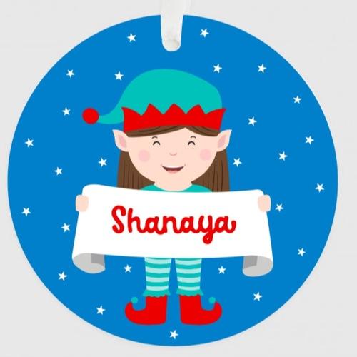 Personalised Christmas Ornament - Girl