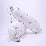 """Snowy Snowman"" Organic Bolsters - Set of 2"