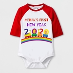 New Year Special My First New Year Print Baby Romper