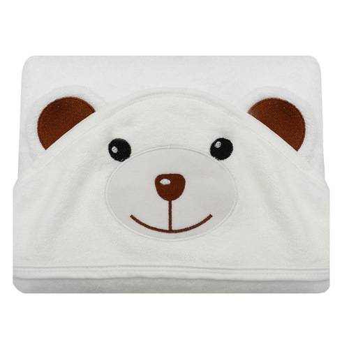 Organic Bamboo Hooded Towel - Bear
