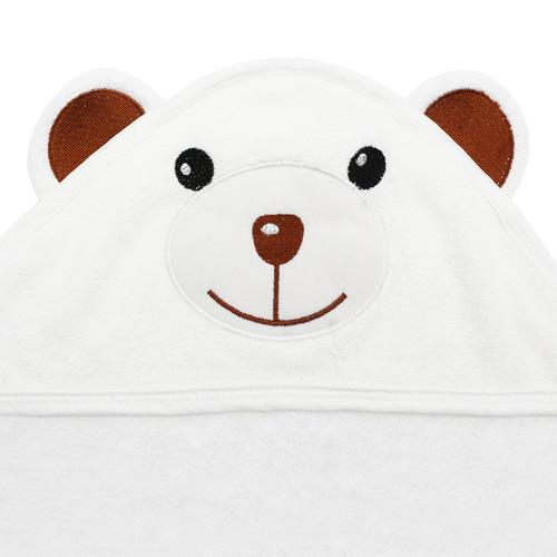 Organic Bamboo Hooded Towel - Bear