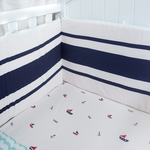 Navy Blue Organic Baby Cot Bumper