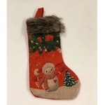Red Mini Stockings - Snowman with Christmas Tree