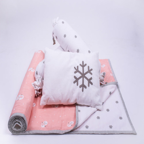 """Snowy Snowman"" Organic Mini Gift Set - With Dohar Blanket"