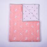 Snowy Snowman Organic Baby Quilt Blanket
