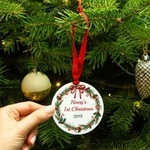 Personalised My First Christmas Ornament