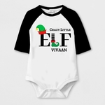 Christmas Special Crazy Little ELF Print Baby Romper