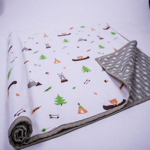 """Hello..... Little Adventure"" Organic Dohar Blanket"