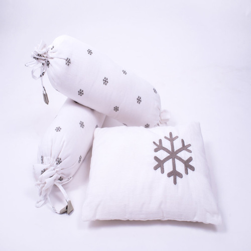 Snowy Snowman Organic Cot Bedding Set - With Dohar Blanket