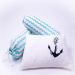 Sailing Boats Organic Cot Bedding Set - With Dohar Blanket