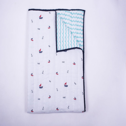"""Sailing Boats"" Organic Dohar Blanket"