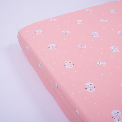 Snowy Snowman Organic Fitted Crib Sheet