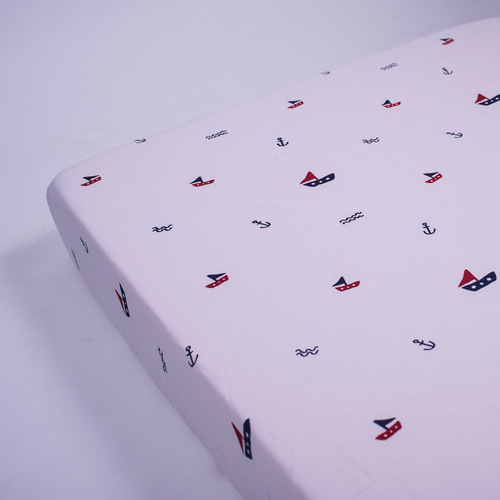 Sailing Boats Organic Fitted Crib Sheet