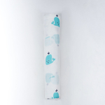 """Whale Tribe"" Organic Muslin Swaddle"