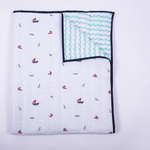Sailing Boats Organic Quilt Blanket