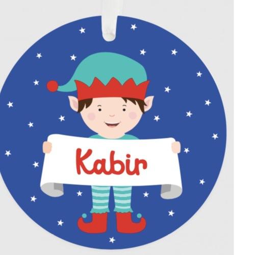 Personalised Christmas Ornament - Boy
