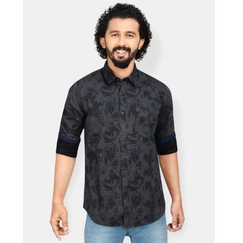 Black printed shirt by Tern