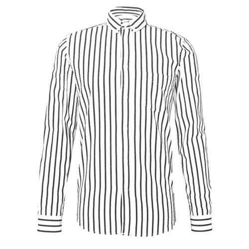 Black striped white shirt by Forester Infinity