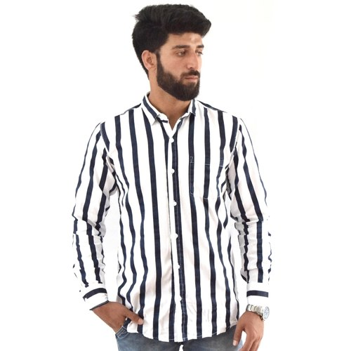 Blue striped white shirt by Forester Infinity