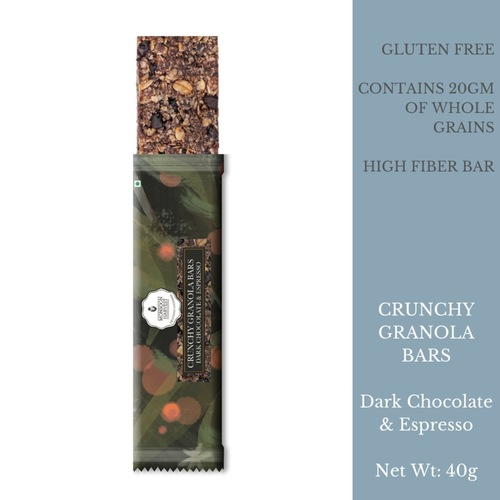 Crunchy Granola Bars - Dark Chocolate & Espresso (Pack of 6)