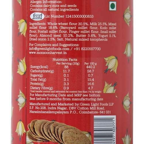 Buttermilk & Millet Crackers - Caramelized Onion