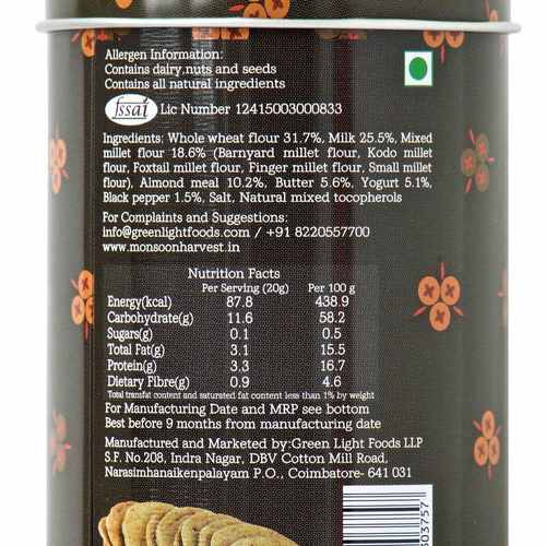 Buttermilk & Millet Crackers - Cracked Black Pepper